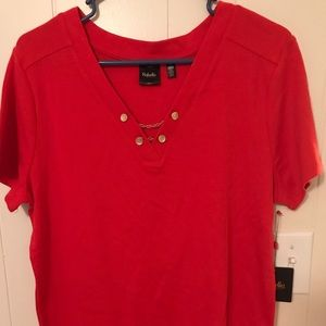 Rafaella Orange Shirt